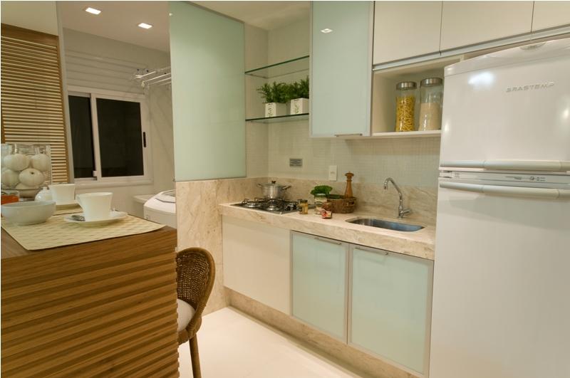 decoracao cozinha bege:Para decorar, invista em detalhes como pastilhas, combinação de