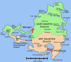 Map of St. Maarten