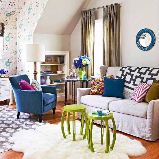 kolorowy salon inspiracje