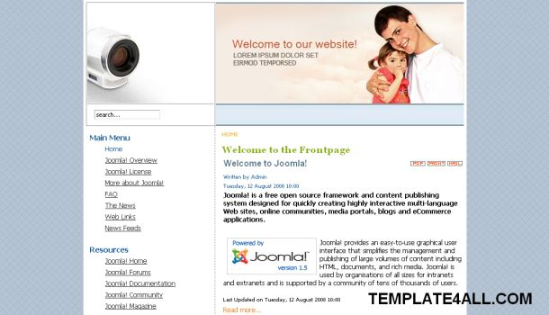 Website Templates Themes and CMS Templates: February 2011 - family ...