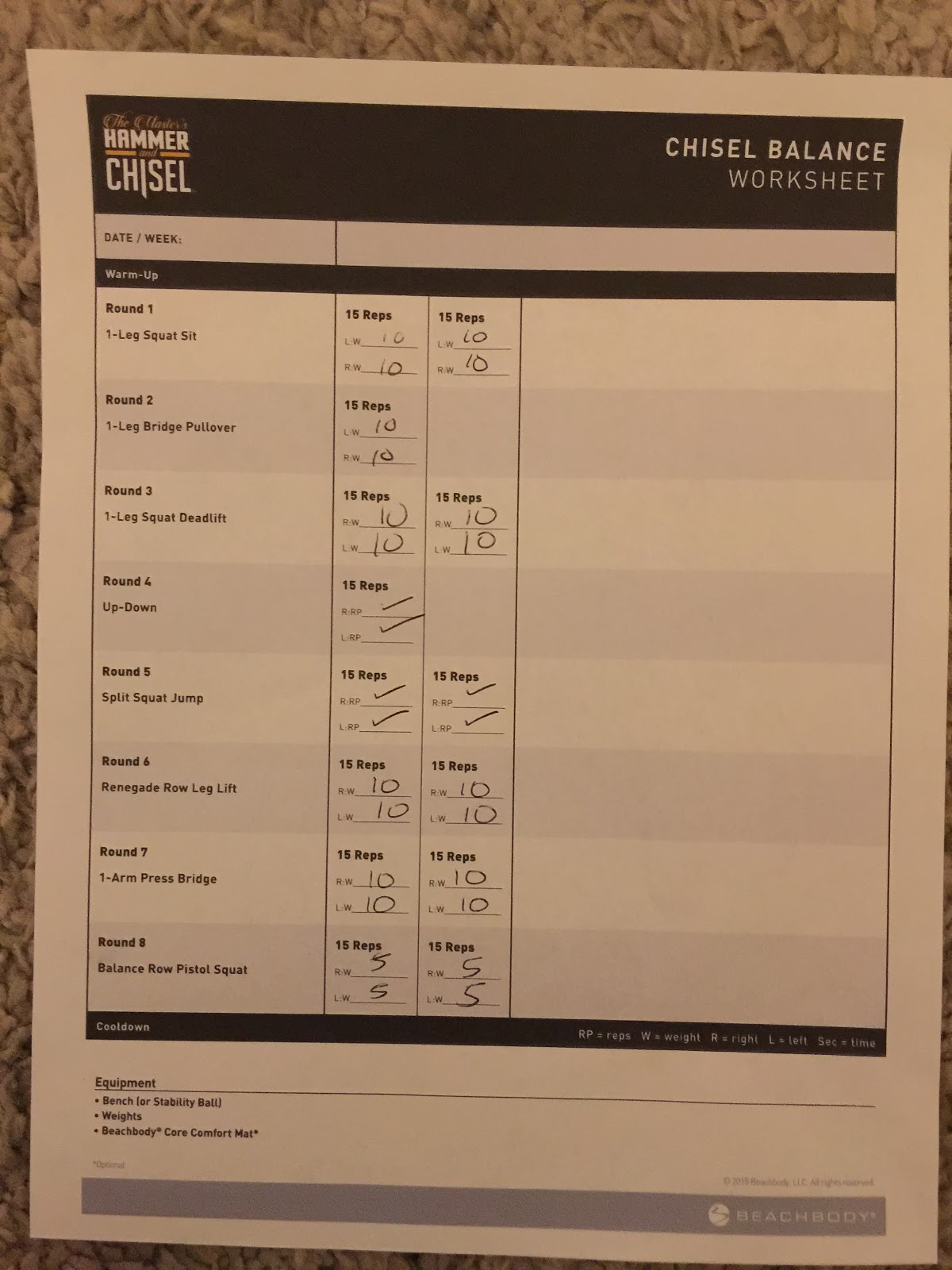 Trapped in a Fat Chick: Review of Beachbody Hammer & Chisel Day 1 ...