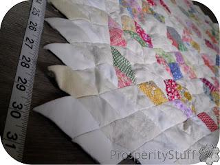 ProsperityStuff Quilts: 60-degree diamond quilt in progress