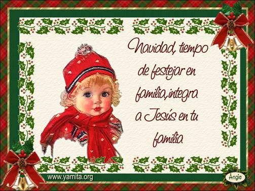 Navidad tiempo de festejar en familia facebook - Tarjetas navidenas cristianas ...