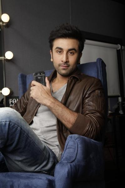Ranbir Kapoor photo shoot for Black Berry India ad
