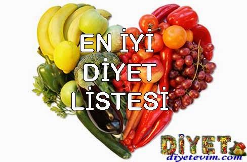 en iyi diyet listeleri