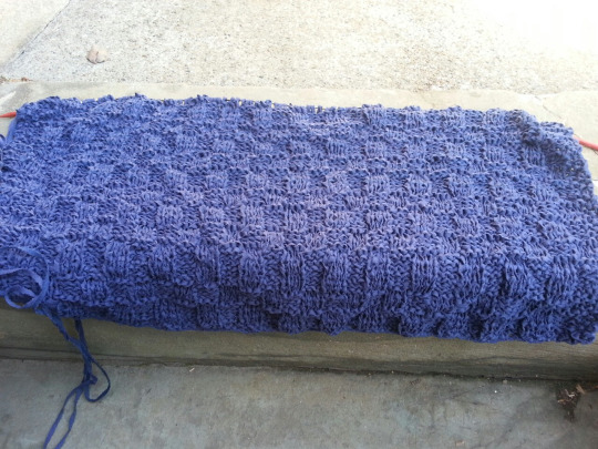That Knitting Blog: Knitting and More: Blue cotton meditation shawl - work in...