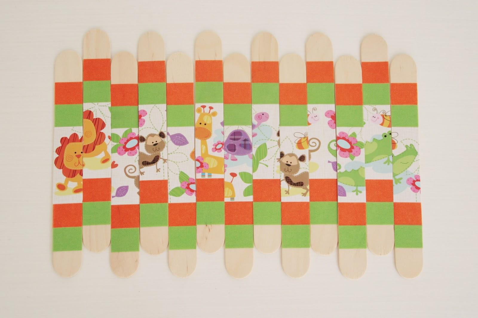 Aparty c mo hacer un puzzle para ni os con palos de madera - Puzzles para ninos pequenos ...