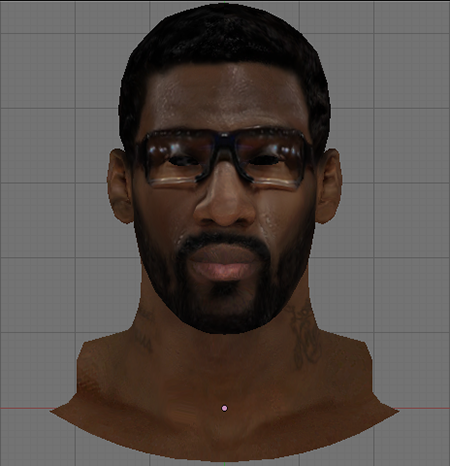 NBA 2K14 Amare Stoudemire Face Hair Mod