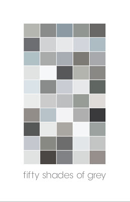 poster with 50 different squares of grey shaded blocks