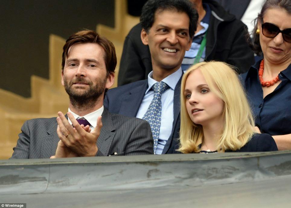 He was accompanied by wife David Tennant Wife