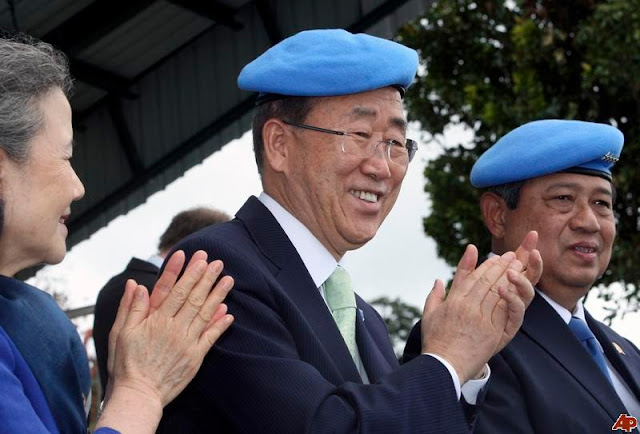 Presiden SBY bersama Sekjen PBB Ban Ki Moon