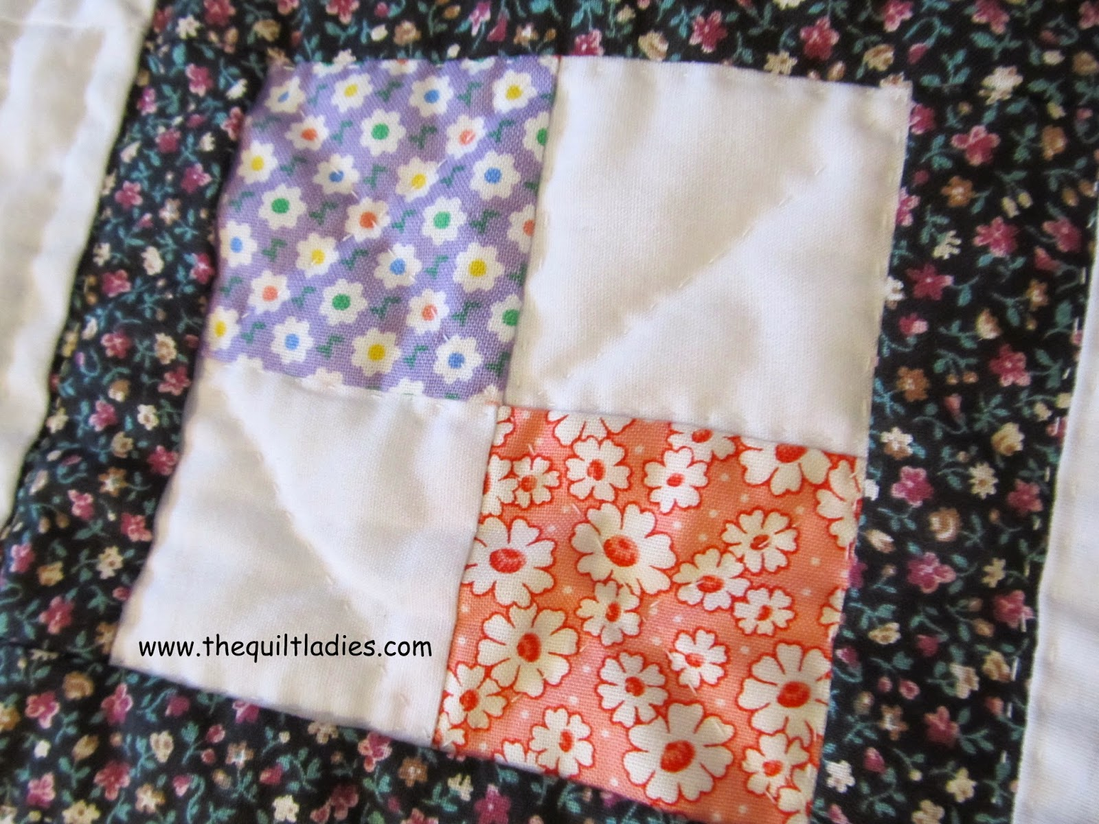tutorial on how to make a 4-patch quilt block