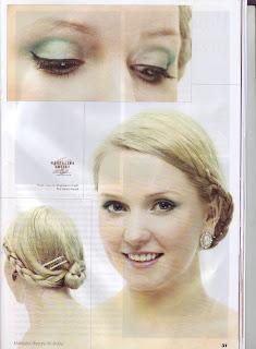 Turkusowy makijaż ślubny