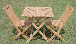 teak garden furniture set foldhing chair