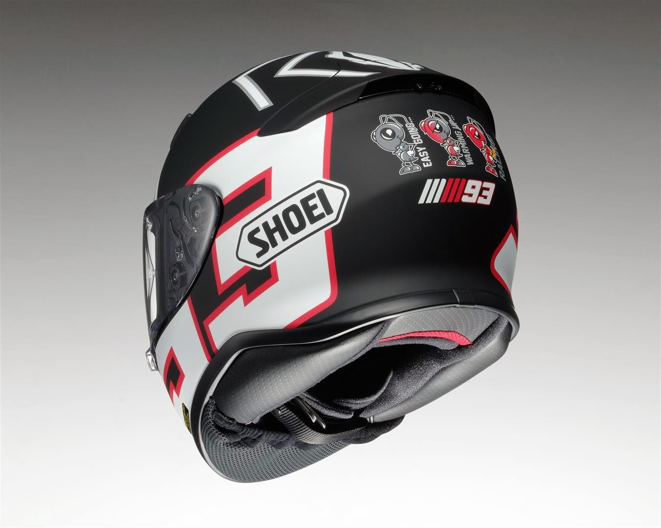 racing helmets garage shoei nxr replica marquez test valencia 2012 2014. Black Bedroom Furniture Sets. Home Design Ideas