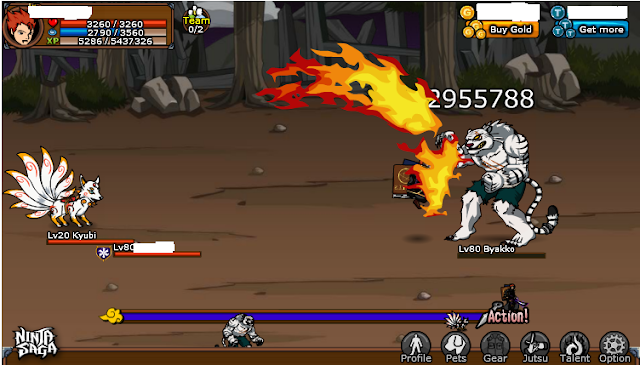 Cheat Ninja Saga 1 Hit Ninja Saga With Cheat Engine