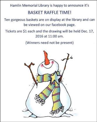 12-17 Hamlin Library Basket Raffle Time