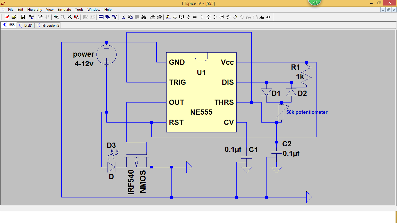 Led Projects Dimmer Using The 555 Timer Chip Project 16 Circuit Diagram