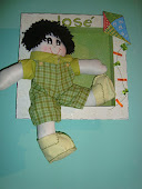 quadro decorativo (boneco de pano)