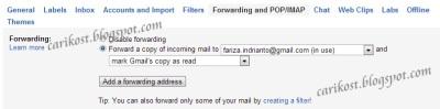 Forward Email Otomatis Untuk Gmail
