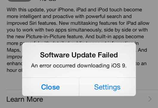 how to fix error 9 ipad