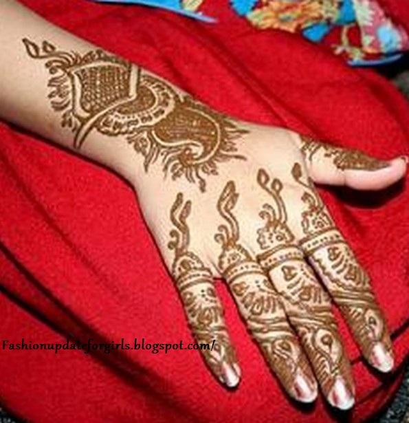 Mehndi For Back : Mehndi designs for back hand