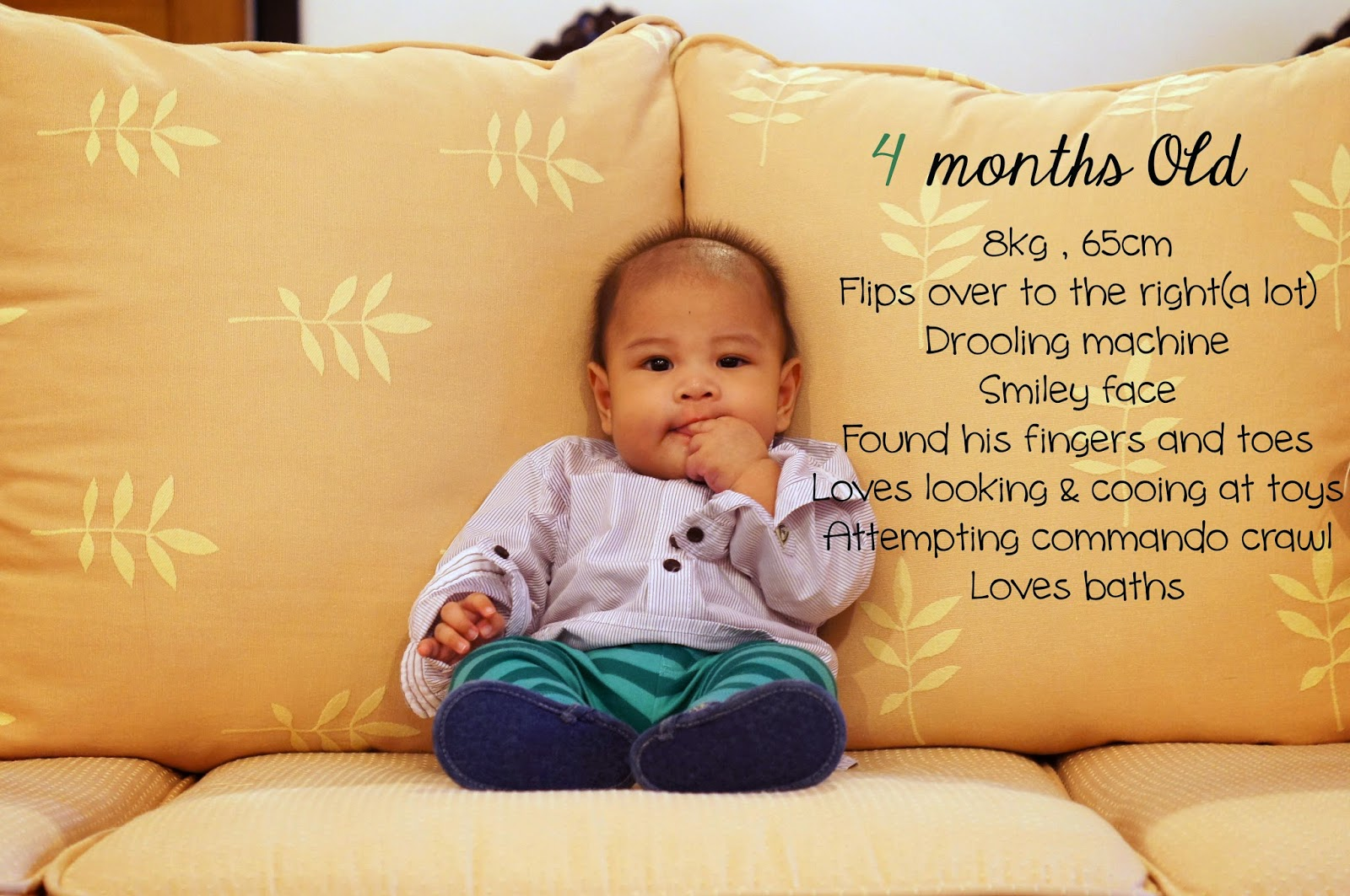 what should my child be doing at 4 months