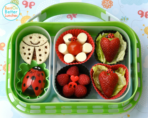 ladybugs lunch boxes and bento on pinterest. Black Bedroom Furniture Sets. Home Design Ideas
