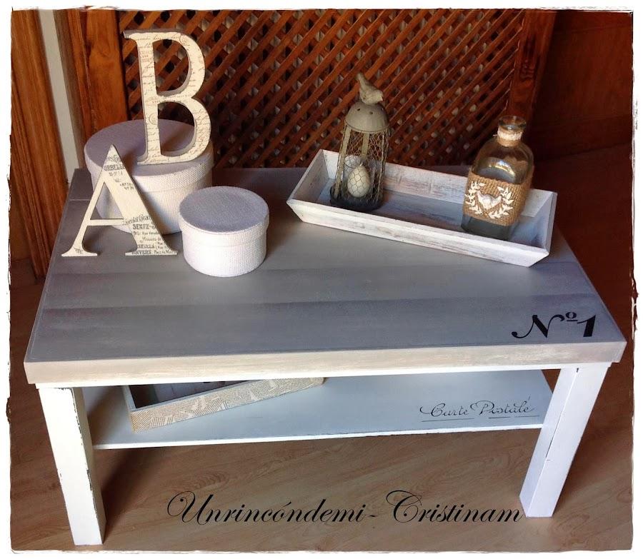 Mesa de ikea for Pintar mueble ikea chalk paint