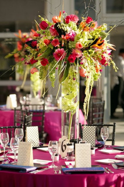 RBH Designer Concepts: Fuchsia & Chartreuse (Lime Green) Weddings