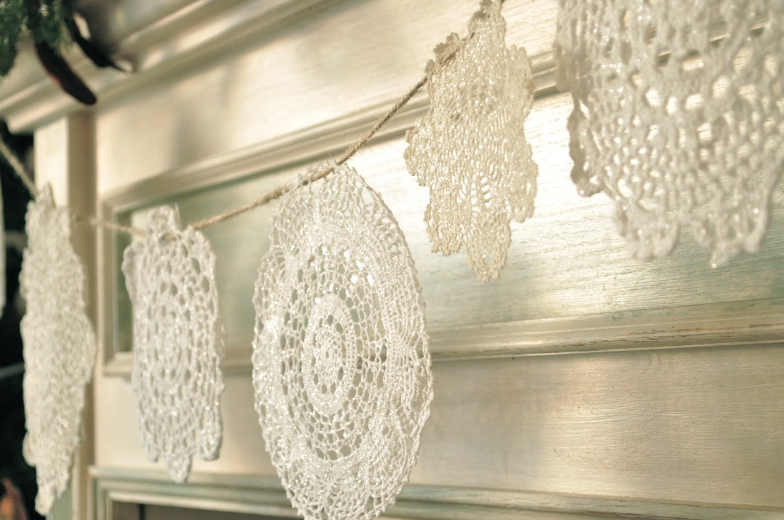 The sparkly doily snowflake banner jennifer rizzo the sparkly doily snowflake banner arubaitofo Images