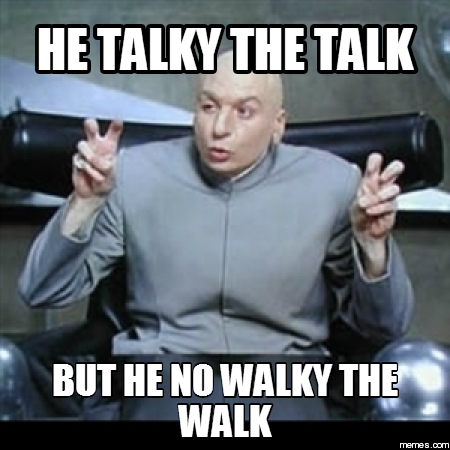 Dr. Evil quotation marks meme