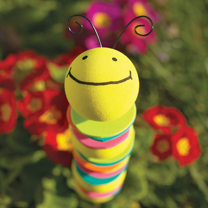 Sassy sites caterpillar crafts for Crafts with styrofoam balls for kids