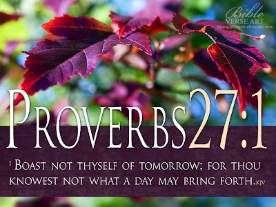 Proverbs 27:1 Bible Verse Free Wallpaper