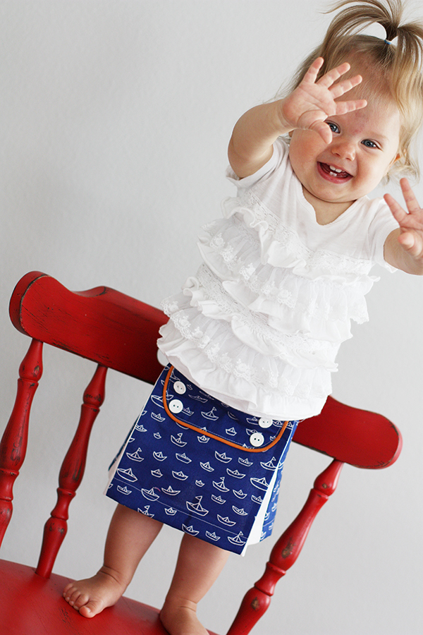Baby Sailor Skirt Free Pattern by sew much ado