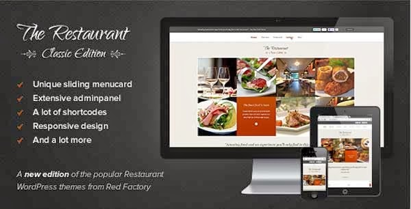 The Restaurant WordPress Theme Presented by TipTechNews