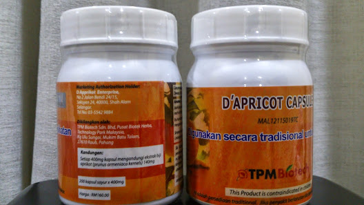 Harga RM160/btl (Kuantiti 200 biji kapsul ekstrak)
