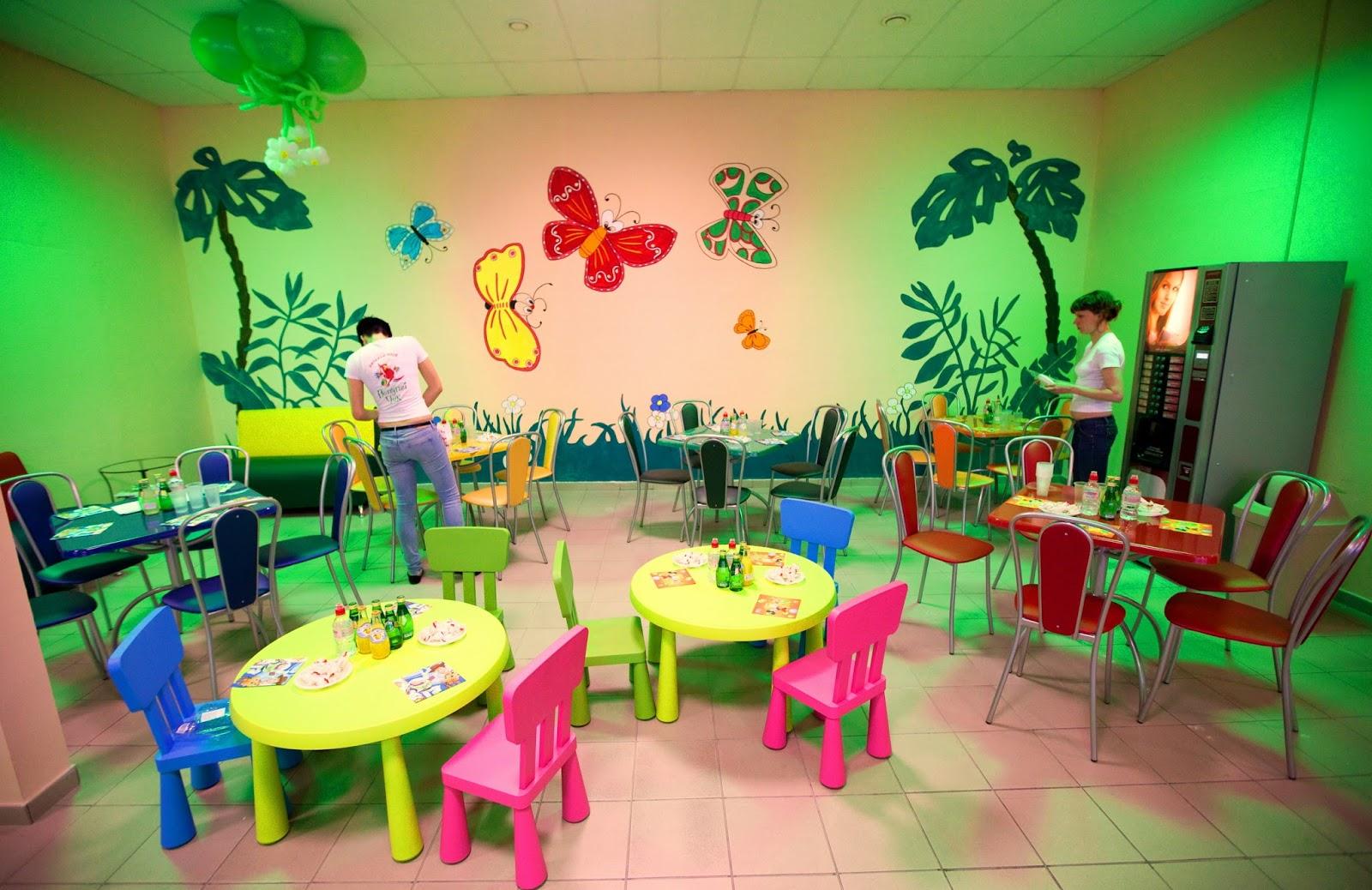 Как украсить детское кафе
