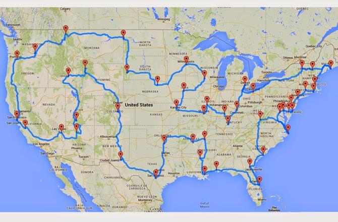 Road Trip Anyone Talk Pretty To Me - Perfect us road trip map