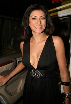 Long Legged Babe Sushmita Sen in Black Dresses, Top Bollywood Actress 2012
