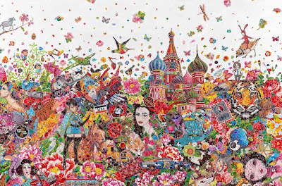 Ye Hongxing's Fine Art Made From Stickers