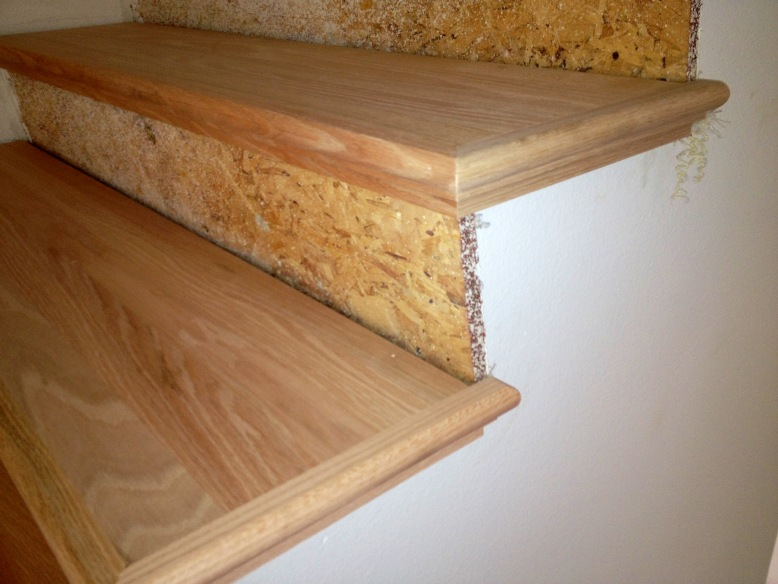 How To Finishing Oak Stair Treads : How To Finishing Oak Stair Treads : Install Oak Stair Treads