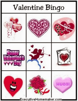 Valentine's Day Bingo Cards For Kids 4
