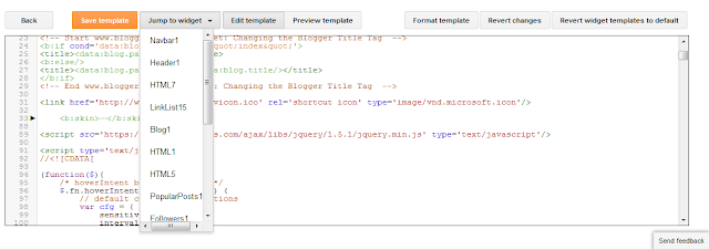Template Setting Blogger