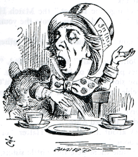 The Hatter character in Alice's Adventures in Wonderland