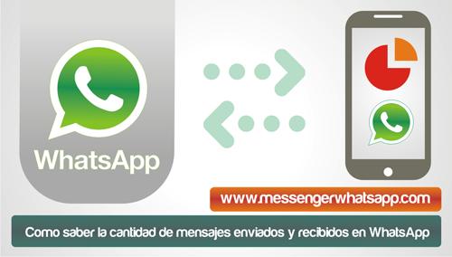 ¿Como saber la cantidad de mensajes enviados y recibidos en WhatsApp?