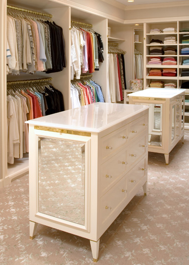 Vestidores en blanco [] White walk-in closets - Vintage u0026 Chic ...