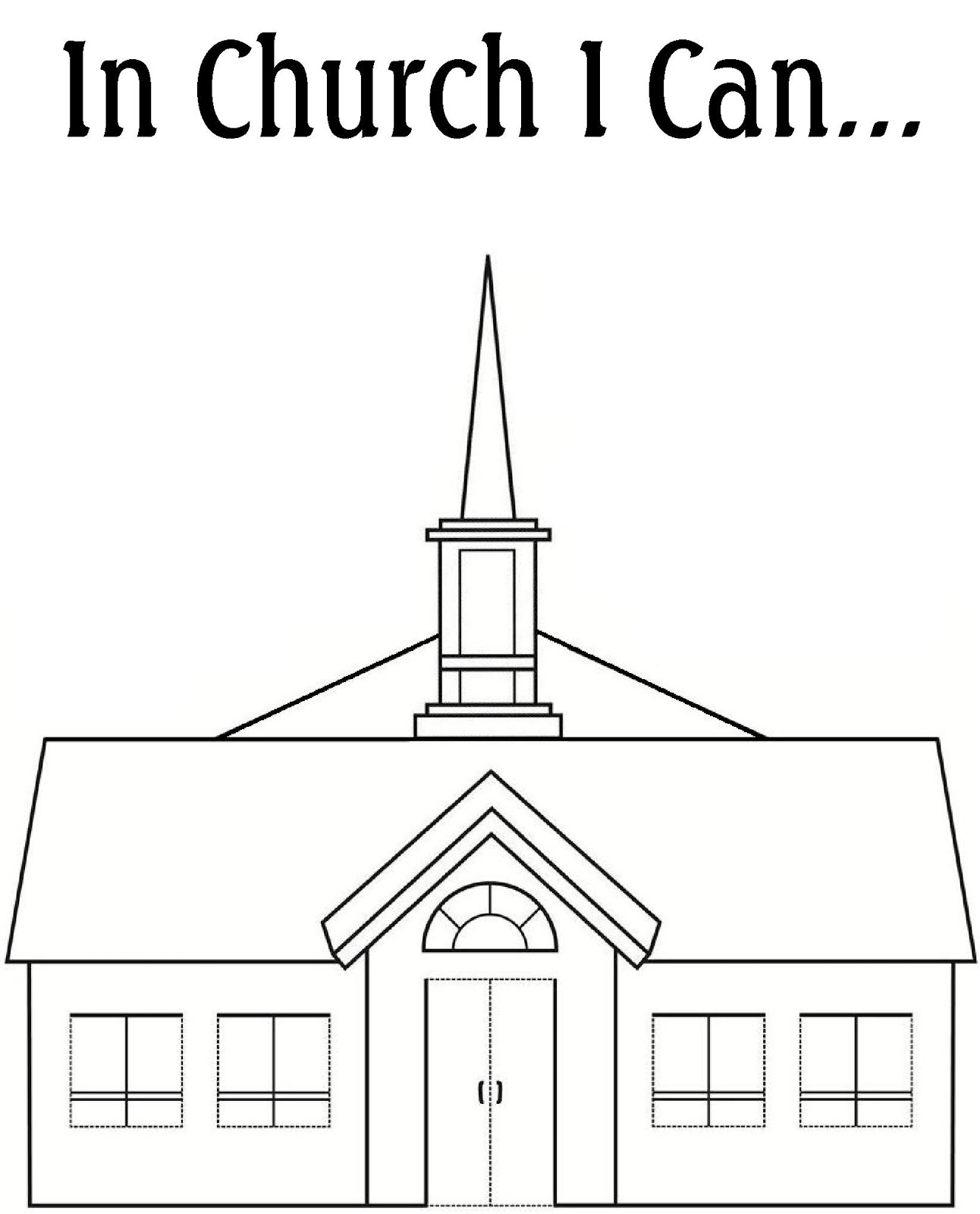 RobbyGurls Creations My Church Coloring Book