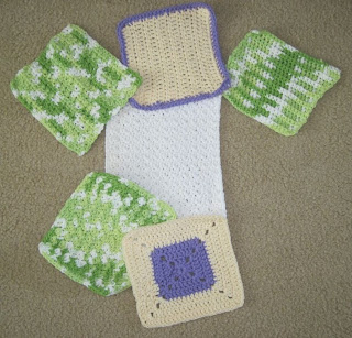 crocheted cotton cloths