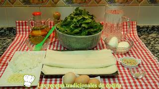 Receta fácil de pastel de espinacas